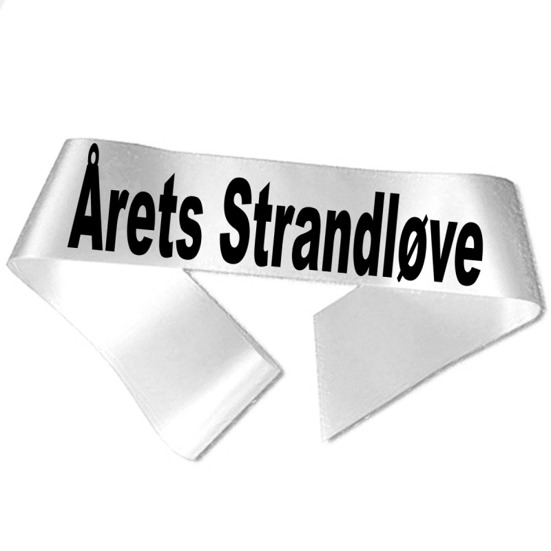 Årets Strandløve sort tryk - Ordensbånd