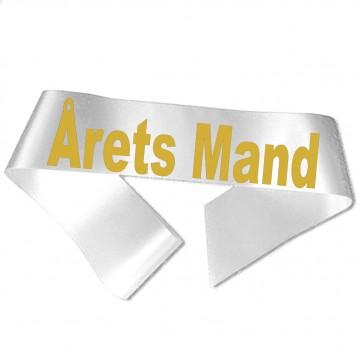 Årets Mand guld metallic tryk - Ordensbånd