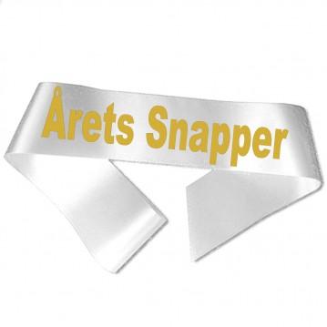 Årets Snapper guld metallic tryk - Ordensbånd