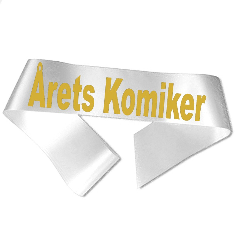 Årets Komiker guld metallic tryk - Ordensbånd