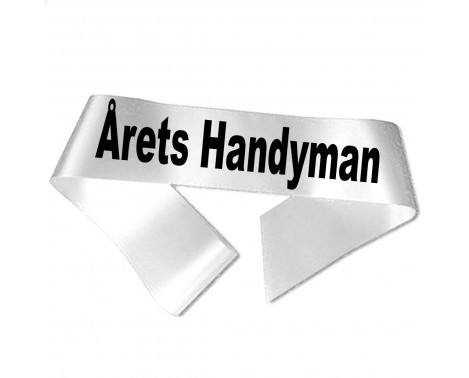 Årets Handyman sort tryk - Ordensbånd
