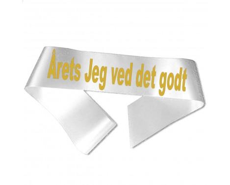 Årets Jeg ved det godt guld metallic tryk - Ordensbånd