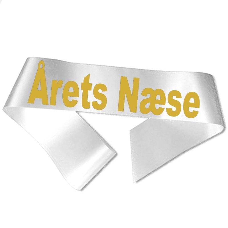 Årets Næse guld metallic tryk - Ordensbånd