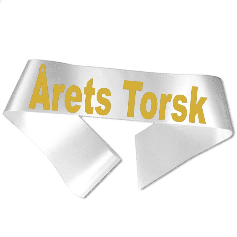 Årets Torsk guld metallic tryk - Ordensbånd
