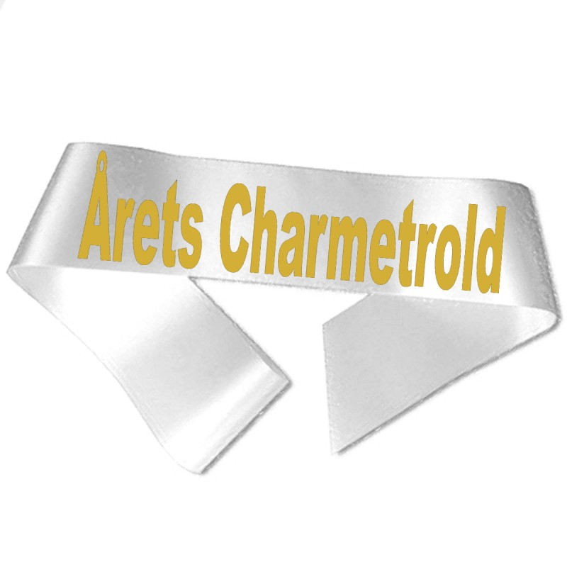Årets Charmetrold guld metallic tryk - Ordensbånd