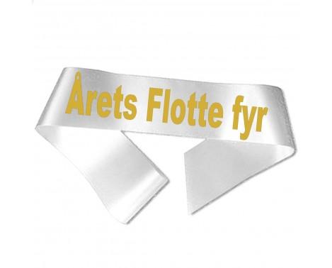 Årets Flotte fyr guld metallic tryk - Ordensbånd