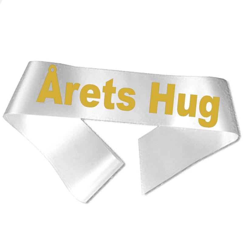 Årets Hug guld metallic tryk - Ordensbånd