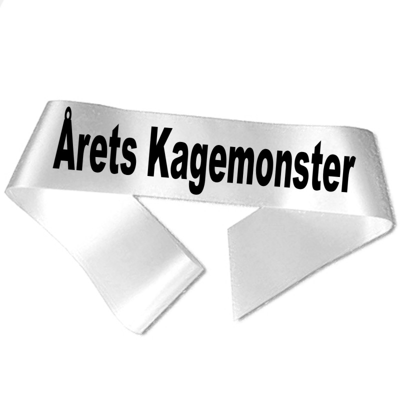 Årets Kagemonster sort tryk - Ordensbånd