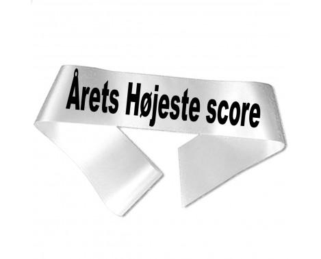 Årets Højste score sort tryk - Ordensbånd