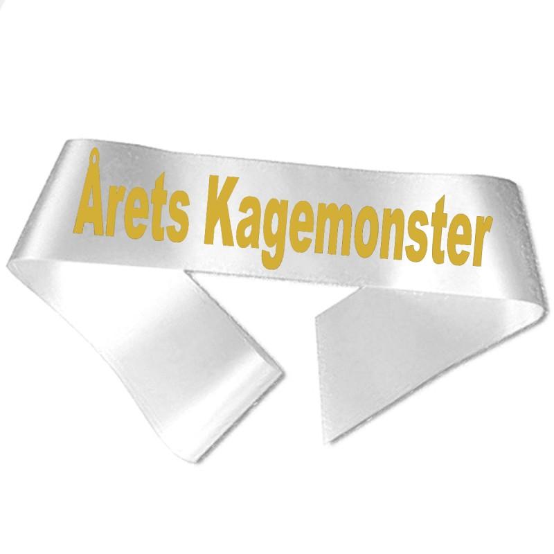 Årets Kagemonster guld metallic tryk - Ordensbånd