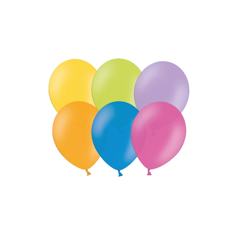 """Billede af 100 stk Standard mix farver balloner - str 12"""""""