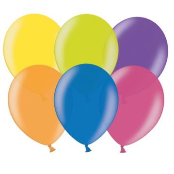 "100 stk Metallic mix farver balloner - str 12"""