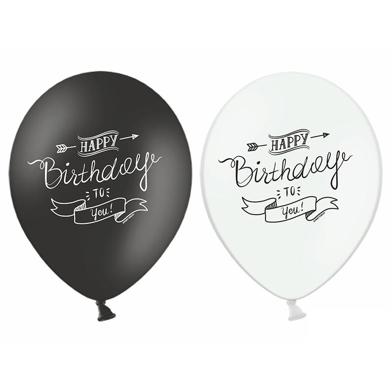 6 stk. Happy Birthday tattoo design balloner