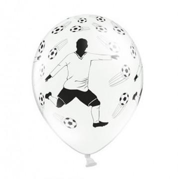 6 stk Fodbold balloner og spiller