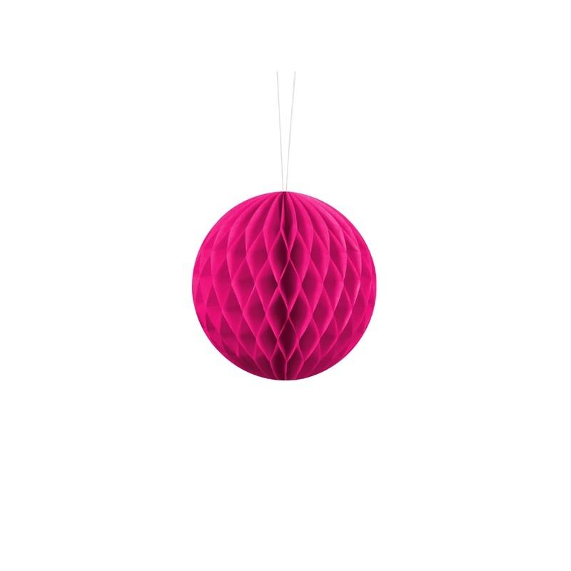Billede af Mørk pink honeycomb 10 cm - papir bikube