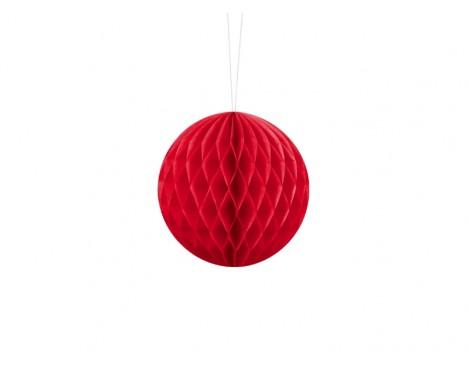 Rød honeycomb 10 cm - papir bikube