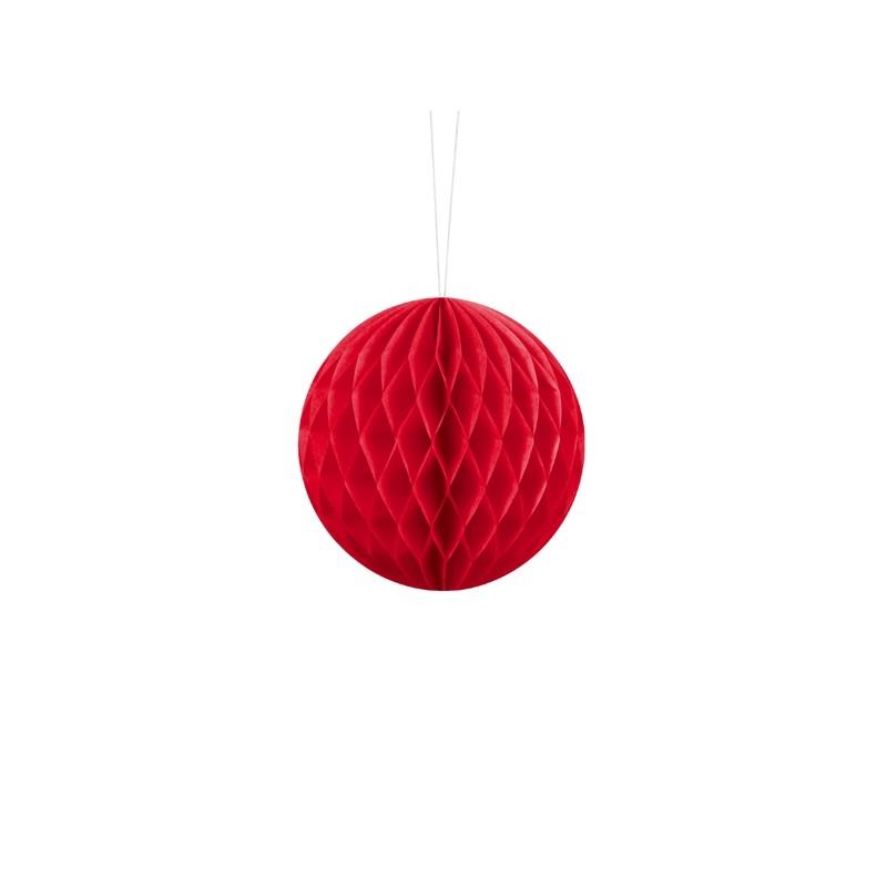 Billede af Rød honeycomb 10 cm - papir bikube