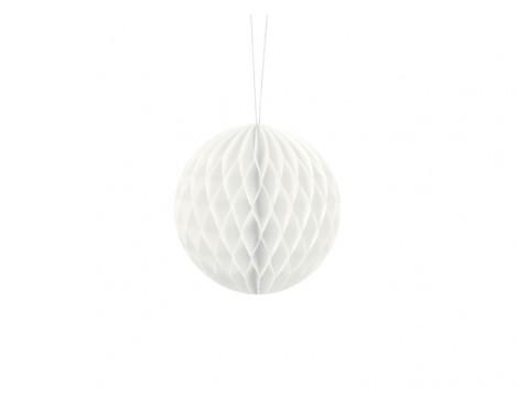 Hvid honeycomb 10 cm - papir bikube