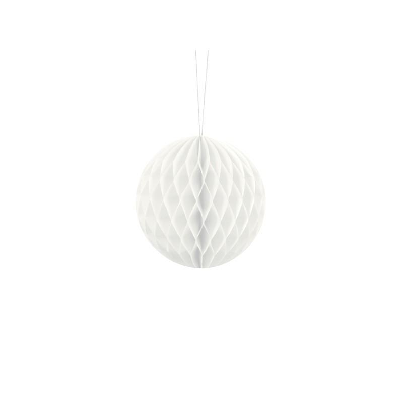 Billede af Hvid honeycomb 10 cm - papir bikube