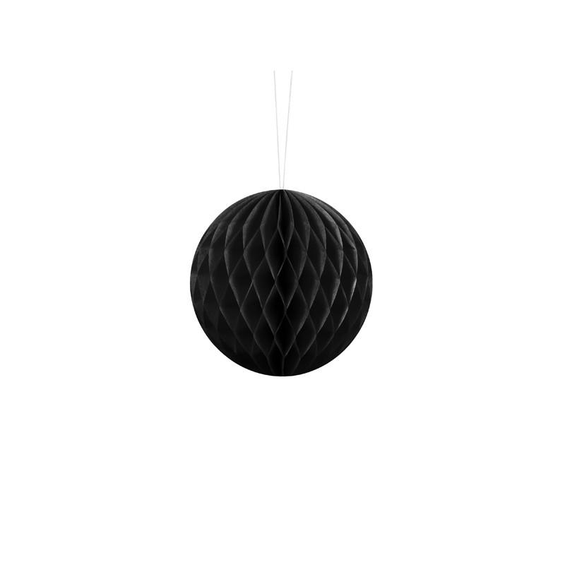 Billede af Sort honeycomb 10 cm - papir bikube