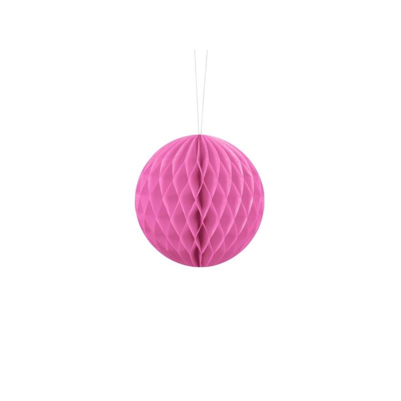 Billede af Pink honeycomb 10 cm - papir bikube