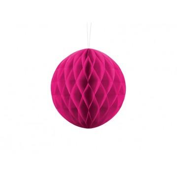 Mørk pink honeycomb 20 cm - papir bikube
