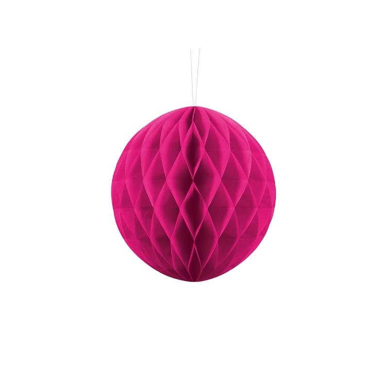 Billede af Mørk pink honeycomb 20 cm - papir bikube