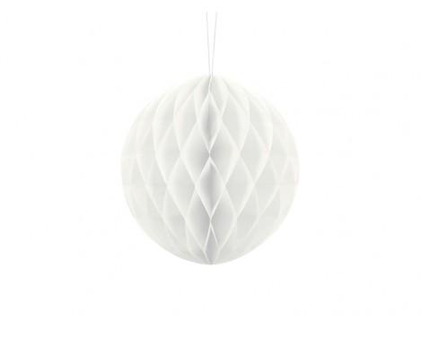 Hvid honeycomb 20 cm - papir bikube