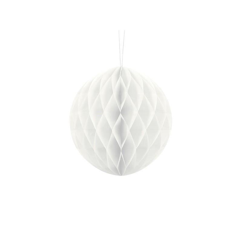 Billede af Hvid honeycomb 20 cm - papir bikube