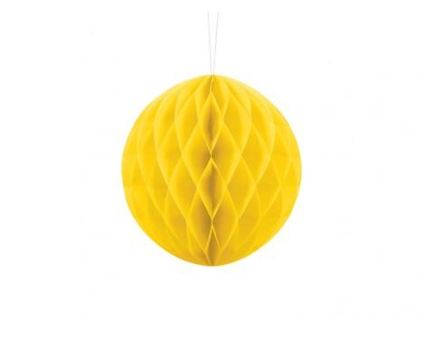 Gul honeycomb 20 cm - papir bikube