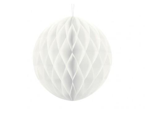 Hvid honeycomb 30 cm - papir bikube
