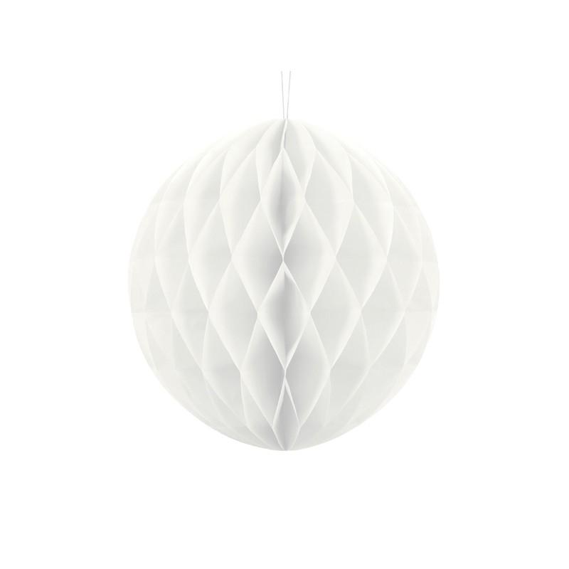 Billede af Hvid honeycomb 30 cm - papir bikube