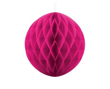 Mørk pink honeycomb 30 cm - papir bikube