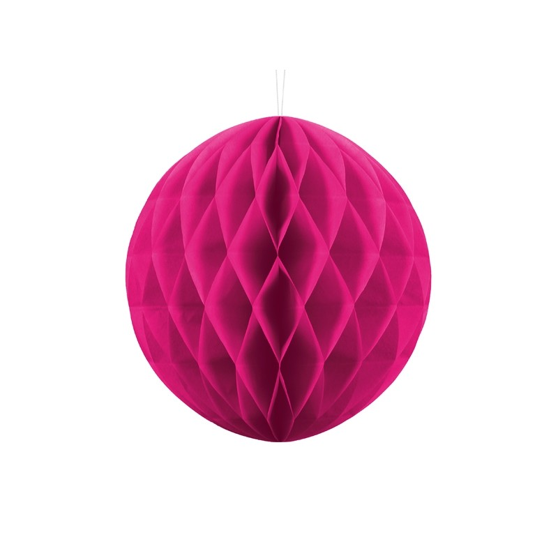 Billede af Mørk pink honeycomb 30 cm - papir bikube