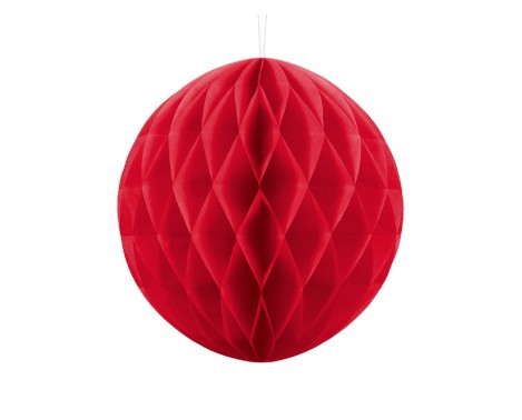 Rød honeycomb 30 cm - papir bikube