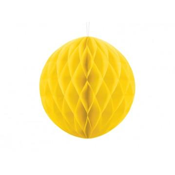 Gul honeycomb 30 cm - papir bikube