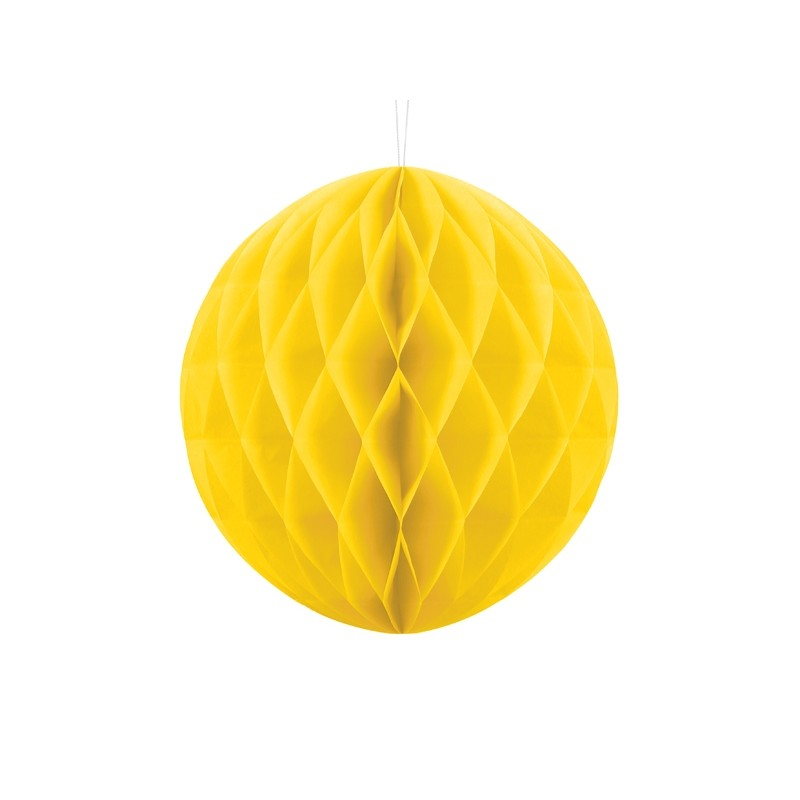 Billede af Gul honeycomb 30 cm - papir bikube