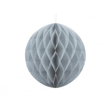 Lys grå honeycomb 30 cm - papir bikube