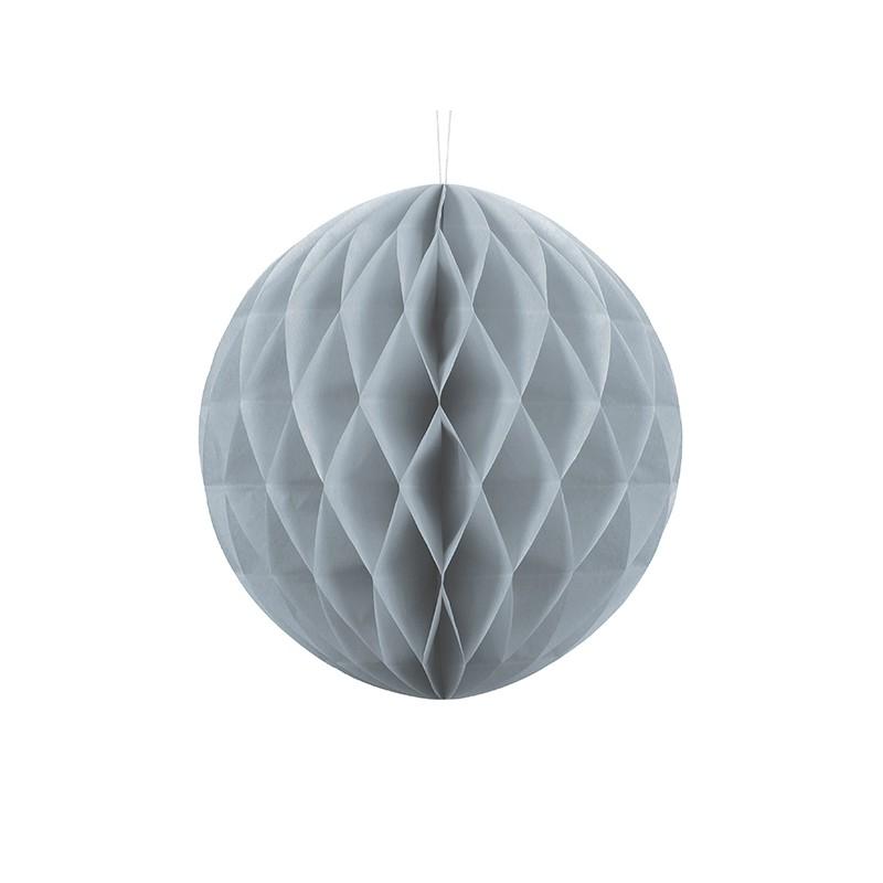 Billede af Lys grå honeycomb 30 cm - papir bikube