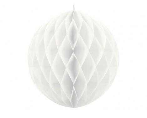Hvid honeycomb 40 cm - papir bikube