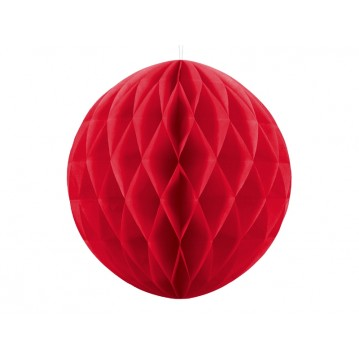 Rød honeycomb 40 cm - papir bikube