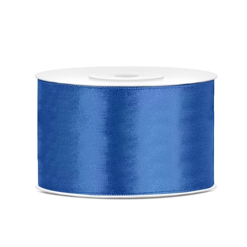 Billede af Satinbånd 38mm x 25m Royal blå - Glat silkelook