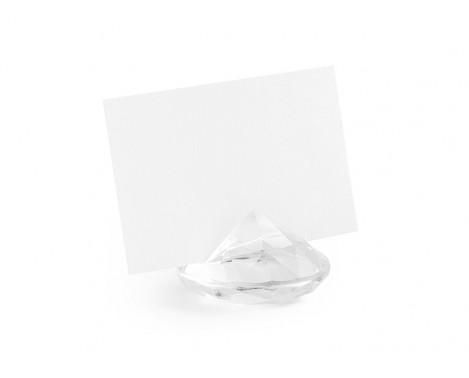 10 stk Klar diamanter til bordkort