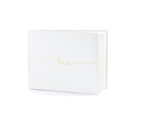 Gæstebog med guld skrift - Love
