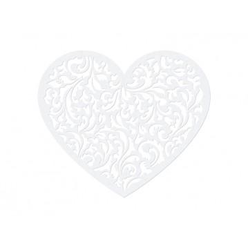 10 stk Hjerter med filigran mønster 10x12cm