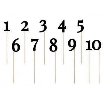 Bordnumre sort på pind