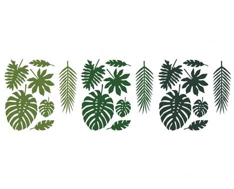 21 stk Blad dekorationer grønne