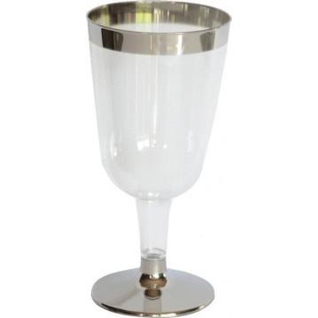 12 stk. Duni vinglas med sølv fod og kant