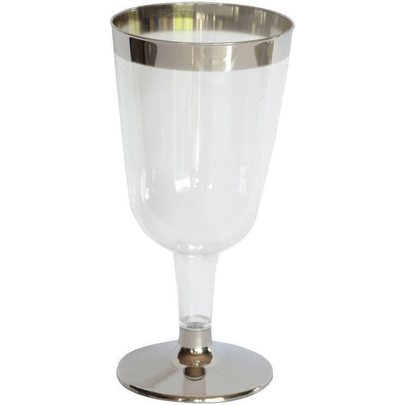 Billede af 12 stk. Duni vinglas med sølv fod og kant