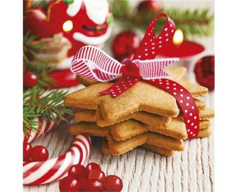 20 stk Juleservietter med julekager